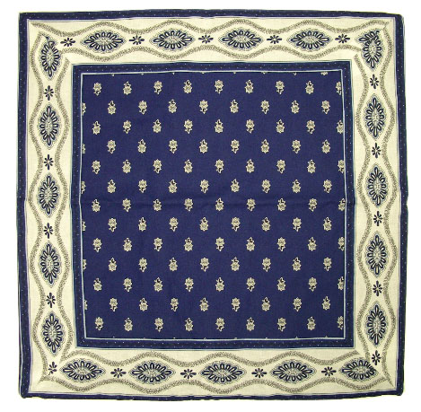 cushion cover 45 x 45 cm (Mireille_medaille. navy blue)