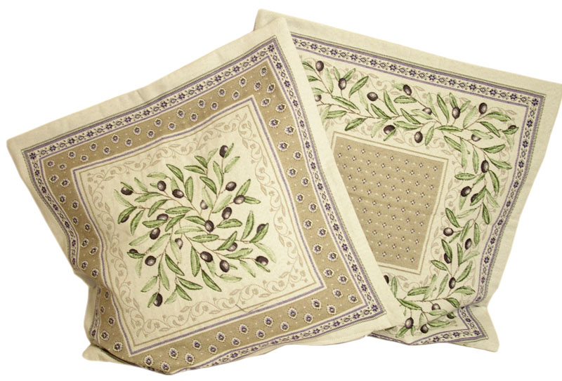 Jacquard cushion cover (Luberon. linen) - Click Image to Close