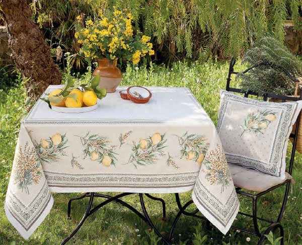 French Jacquard multi-cover (Menton. yellow/green)