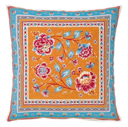 Jacquard cushion cover (ROUSSILLON. blue )