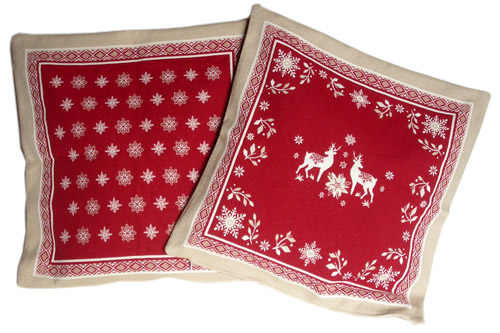 Jacquard cushion cover (VALLEE. 2 colors)