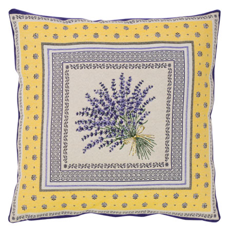 Jacquard cushion cover (CASTILLON. yellow )