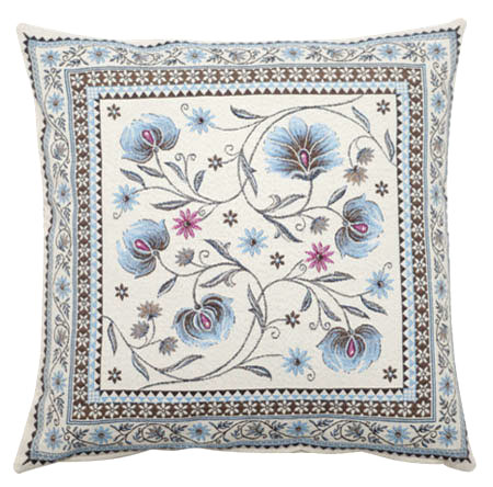 Jacquard cushion cover (SILLANS. blue )