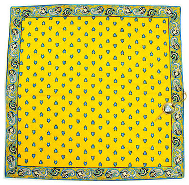 VALDROME quilted cushion cover 40 x 40 cm (manade, yellow)