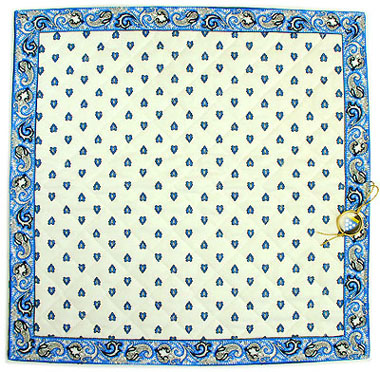 VALDROME quilted cushion cover 40 x 40 cm (manade ,raw x blue)