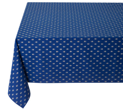 Coated tablecloth (Marat d'Avignon / Avignon. navy blue)