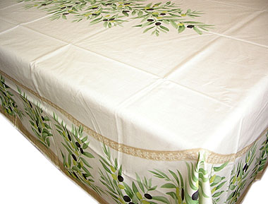 French coated tablecloth (olives. raw)