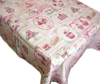 French coated tablecloth (Nougatine. Marshmallow)