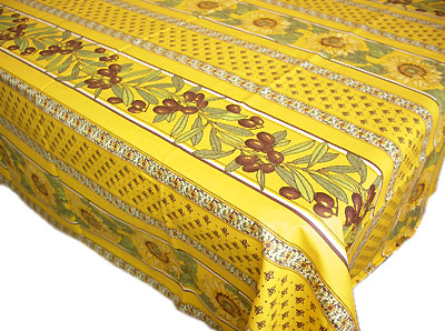 French coated tablecloth (Vallauris. honey yellow)
