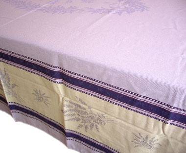 French Jacquard tablecloth, Teflon (Senanques. lavender)