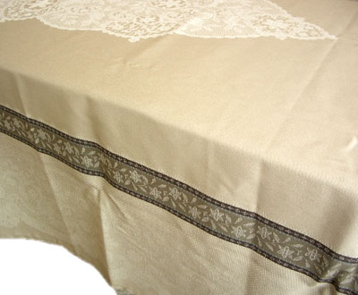French Jacquard tablecloth, Teflon (Dentelle. Linen)