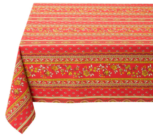 Coated tablecloth (Marat d'Avignon / Avignon. red)