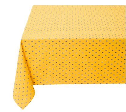 Coated tablecloth (Marat d'Avignon / Avignon. yellow)