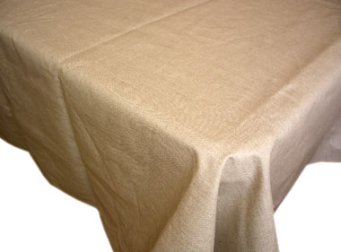 Coated Linen Tablecloth (Linen. natural)