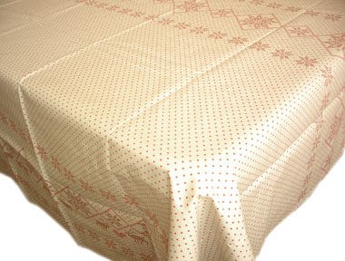 French teflon coated tablecloth (RUUBEN, Linen-red)