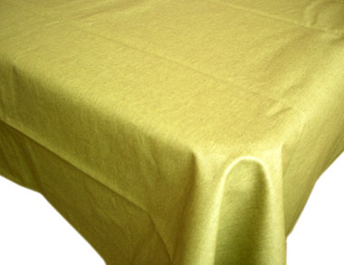 WCoated Linen Tablecloth (LINTO. green)