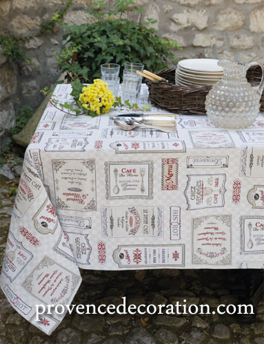 French Jacquard multi-cover, tablecloth (Chez Georges)
