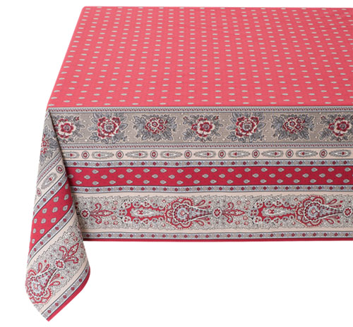 Coated tablecloth (Marat d'Avignon / bastide. red)