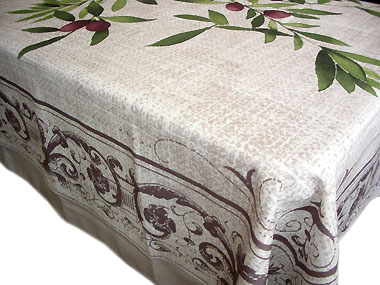 VALDROME Jacquard tablecloth Teflon (ALMAZARAS)