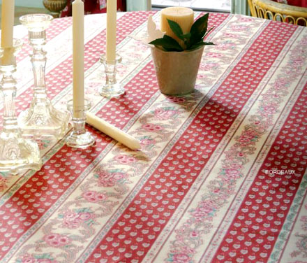 French coated tablecloth (Nais. bordeaux)