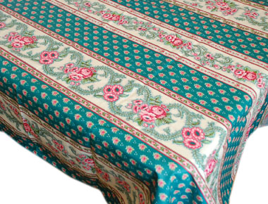 French coated tablecloth (Nais.emeraude)