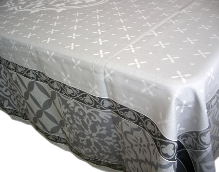 Jacquard tablecloth Teflon (Reillanne. grey)