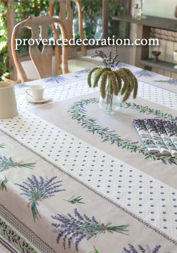 Affordable French Coated Tablecloth Lauris Raw With Set De Table Boutis  Provencal.