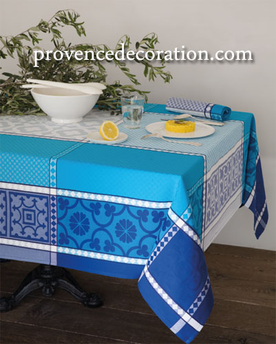 French Jacquard tablecloth, Teflon (Marius. 3 colors)
