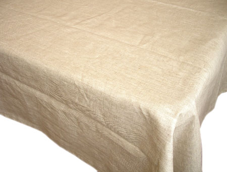 Coated Linen Tablecloth (Lin. natural semi-grey)