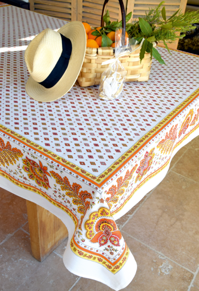 French coated tablecloth (Mirabeau. raw)