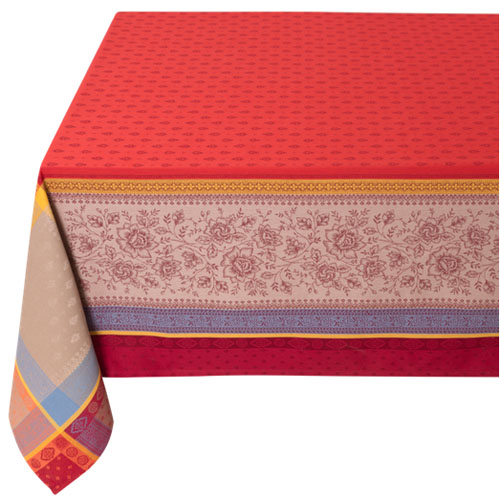 Jacquard tablecloth Teflon (Marat d'Avignon Massilia. red)
