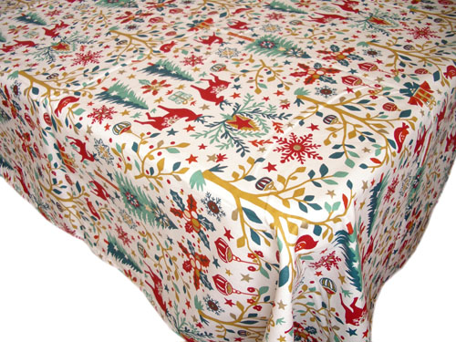French coated tablecloth (Laponie, raw)