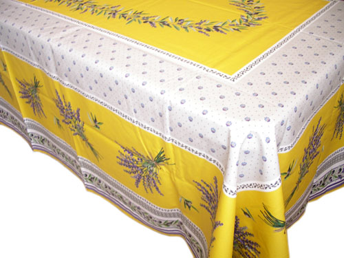 French coated tablecloth (Lauris. yellow)