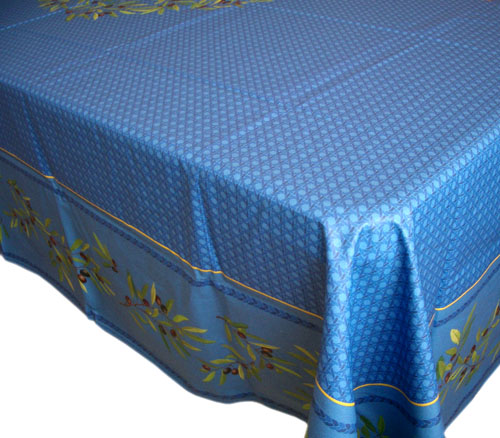 French coated tablecloth (Nyons. blue)