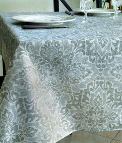 Coated Linen Tablecloth (Domaine. raw/grey)