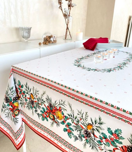 French coated tablecloth (Sylvestre)