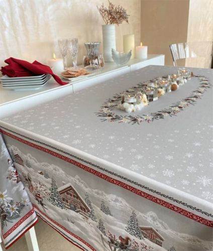 French coated tablecloth (Megeve)