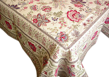 French Jacquard tablecloth / multi-cover (GARANCE. 3 colors)