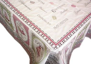 French Jacquard multi-cover (Nougatine. pink-green)