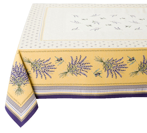 French Jacquard multi-cover (CASTILLON. Yellow)