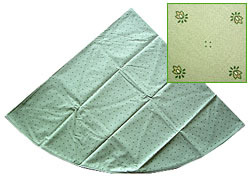 French Round Tablecloth coated (Calissons. light green)