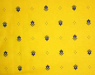French coated tablecloth (Calissons. yellow x blue)