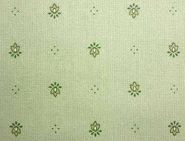 Coated tablecloth (Calissons. light green)