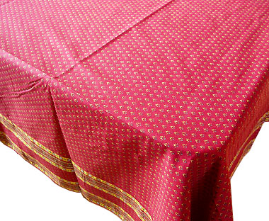 Tablecloth, non coated (Lourmarin. bordeaux x yellow)