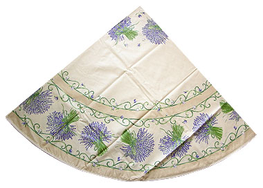 French Round Tablecloth Coated (lavender. raw)