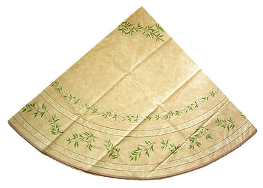 French Round Tablecloth Coated (cicada. beige)