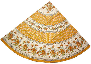 Charming Round Tablecloth Coated (Gians. Orange) Previous