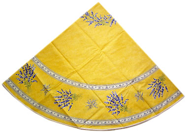 French Round Tablecloth Coated (lavender 2007. yellow)