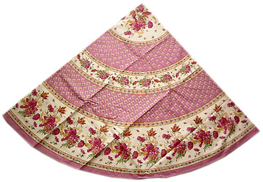 Round Tablecloth coated (Gians. rose)