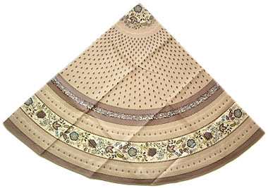 French round coated tablecloth (Ellora. linen)